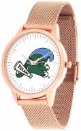 Tulane Green Wave Rose Mesh Statement Watch