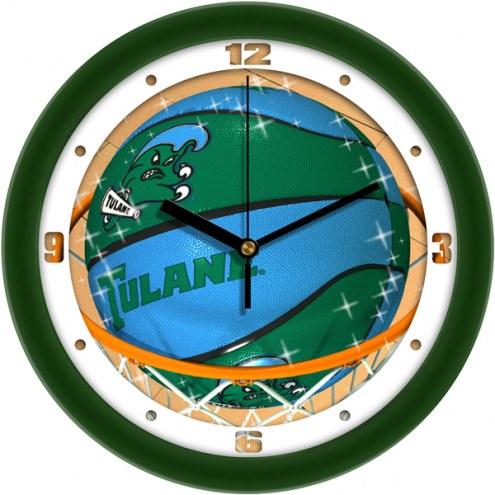 Tulane Green Wave Slam Dunk Wall Clock