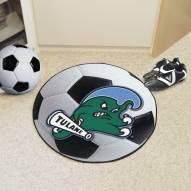 Tulane Green Wave Soccer Ball Mat