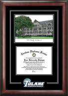 Tulane Green Wave Spirit Diploma Frame with Campus Image