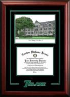 Tulane Green Wave Spirit Graduate Diploma Frame