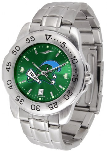 Tulane Green Wave Sport Steel AnoChrome Men's Watch