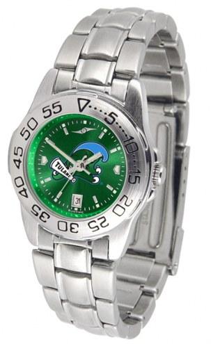 Tulane Green Wave Sport Steel AnoChrome Women's Watch