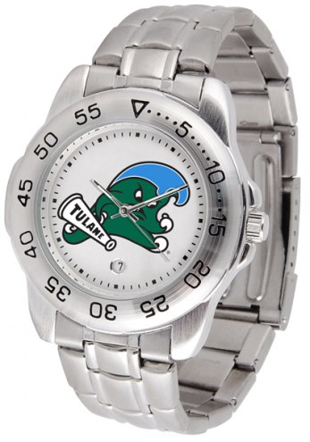 Tulane Green Wave Sport Steel Men's Watch