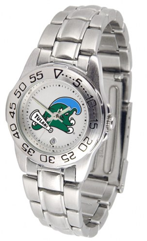 Tulane Green Wave Sport Steel Women's Watch