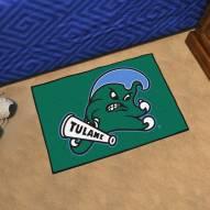 Tulane Green Wave Starter Rug