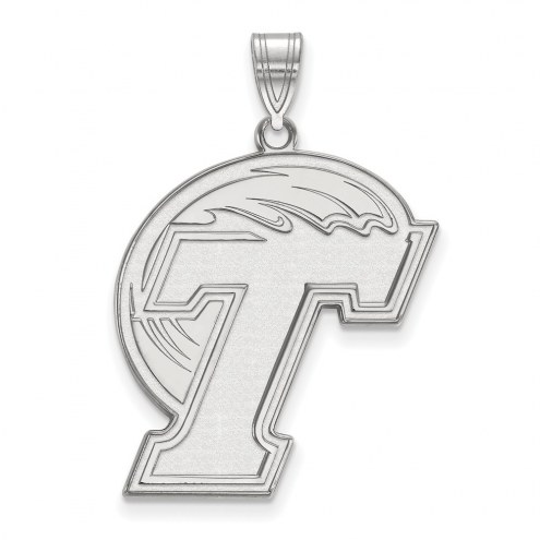 Tulane Green Wave Sterling Silver Extra Large Pendant