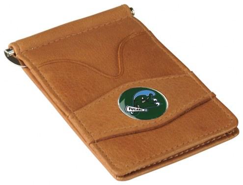 Tulane Green Wave Tan Player's Wallet