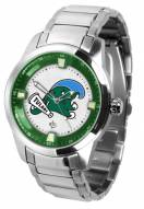 Tulane Green Wave Titan Steel Men's Watch