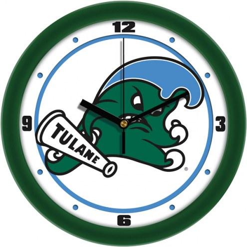 Tulane Green Wave Traditional Wall Clock