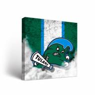Tulane Green Wave Vintage Canvas Wall Art