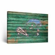 Tulane Green Wave Weathered Canvas Wall Art