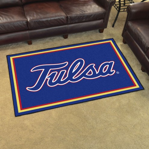 Tulsa Golden Hurricane 4' x 6' Area Rug