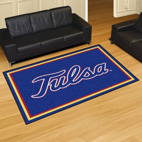 Tulsa Golden Hurricane 5' x 8' Area Rug