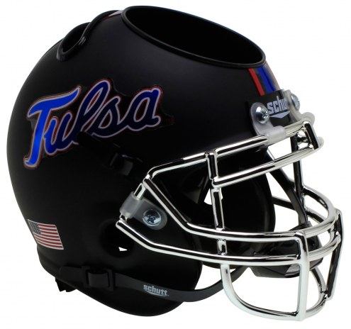 Tulsa Golden Hurricane Alternate 4 Schutt Football Helmet Desk Caddy