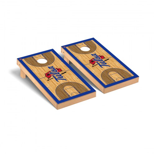 Tulsa Golden Hurricane Basketball Court Cornhole Game Set