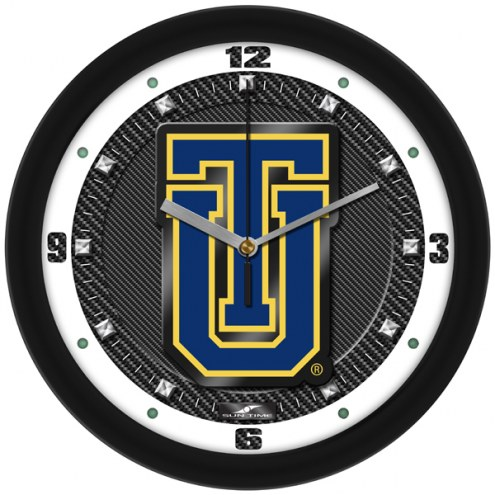 Tulsa Golden Hurricane Carbon Fiber Wall Clock
