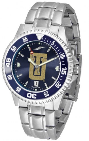 Tulsa Golden Hurricane Competitor Steel AnoChrome Color Bezel Men's Watch