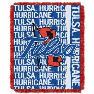 Tulsa Golden Hurricane Double Play Woven Throw Blanket