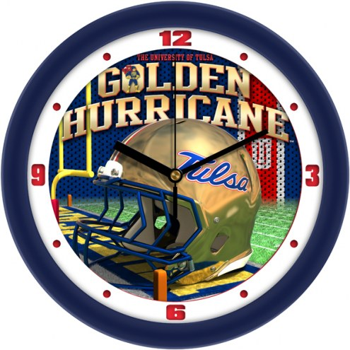 Tulsa Golden Hurricane Football Helmet Wall Clock