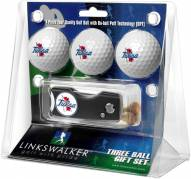 Tulsa Golden Hurricane Golf Ball Gift Pack with Spring Action Divot Tool
