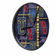 Tulsa Golden Hurricane Digitally Printed Wood Clock