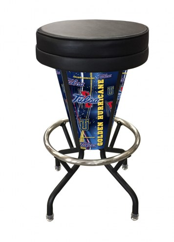 Tulsa Golden Hurricane Indoor/Outdoor Lighted Bar Stool