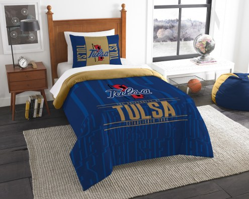 Tulsa Golden Hurricane Modern Take Twin Comforter Set