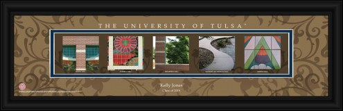 Tulsa Golden Hurricane Personalized Campus Letter Art