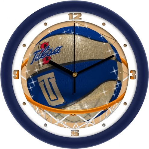 Tulsa Golden Hurricane Slam Dunk Wall Clock