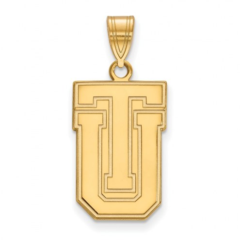 Tulsa Golden Hurricane Sterling Silver Gold Plated Large Pendant