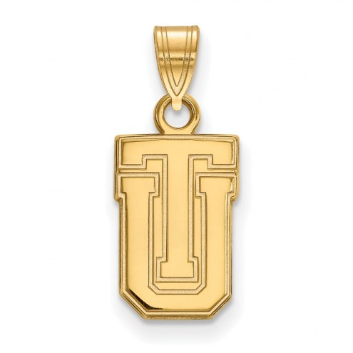 Tulsa Golden Hurricane Sterling Silver Gold Plated Small Pendant