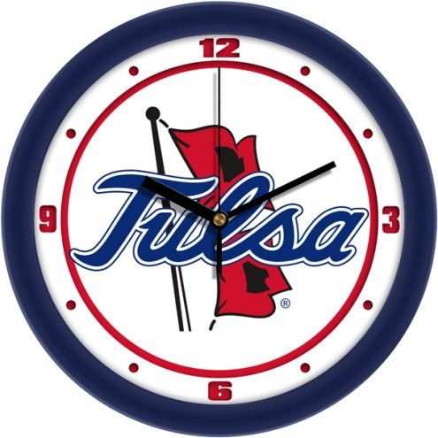 Tulsa Golden Hurricane Traditional Wall Clock