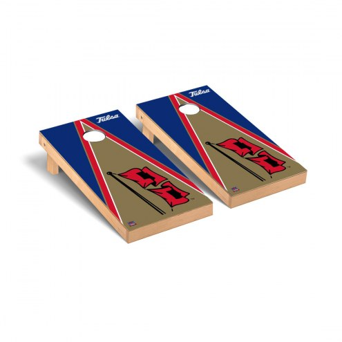 Tulsa Golden Hurricane Triangle Cornhole Game Set