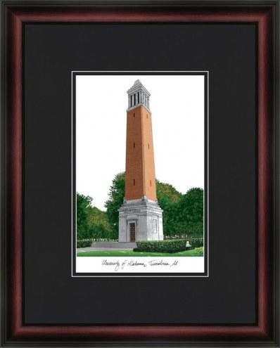 University of Alabama Tuscaloosa Academic Framed Lithograph