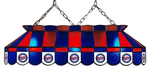 "Minnesota Twins MLB Team 40"" Rectangular Stained Glass Shade"