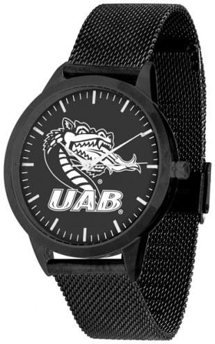UAB Blazers Black Dial Mesh Statement Watch