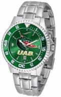 UAB Blazers Competitor Steel AnoChrome Color Bezel Men's Watch