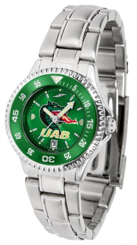 UAB Blazers Competitor Steel AnoChrome Women's Watch - Color Bezel