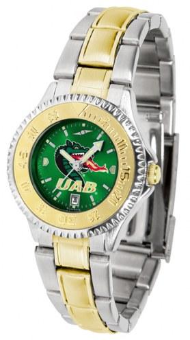 UAB Blazers Competitor Two-Tone AnoChrome Women's Watch