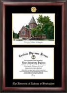 UAB Blazers Gold Embossed Diploma Frame with Campus Images Lithograph