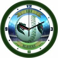 UAB Blazers Home Run Wall Clock