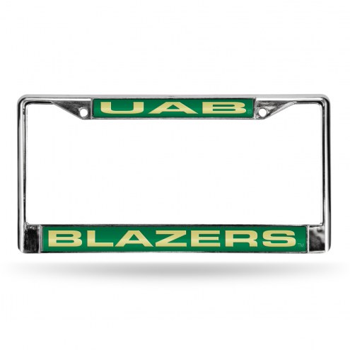 UAB Blazers Laser Chrome License Plate Frame