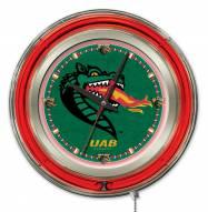 UAB Blazers Neon Clock