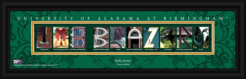 UAB Blazers Personalized Campus Letter Art
