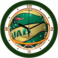 UAB Blazers Slam Dunk Wall Clock