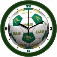 UAB Blazers Soccer Wall Clock