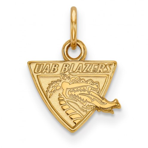 UAB Blazers Sterling Silver Gold Plated Extra Small Pendant
