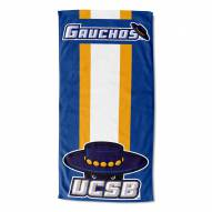 UC Santa Barbara Gauchos Zone Read Beach Towel