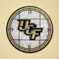 UCF Golden Knights NCAA Stained Glass Wall Clock
